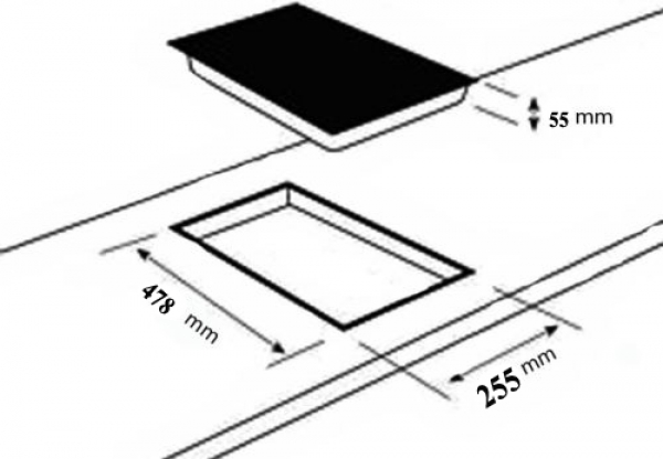 domino gaskochfeld einbau kochfeld glas gaskocher 2 flammig autark lpg edrgas ebay. Black Bedroom Furniture Sets. Home Design Ideas