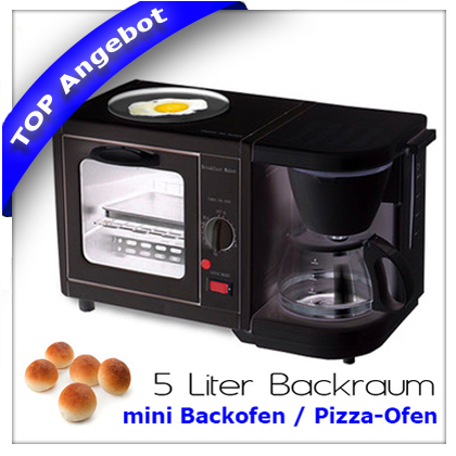 3in1 fr hst ckscenter kaffeemaschine mini backofen. Black Bedroom Furniture Sets. Home Design Ideas